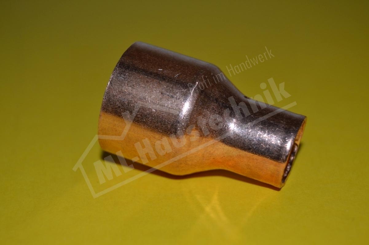 Kupfer Löt Fitting Absatz-Nippel Nr. 5243 10-12-15-18-22-28-35-42 mm Reduzierung