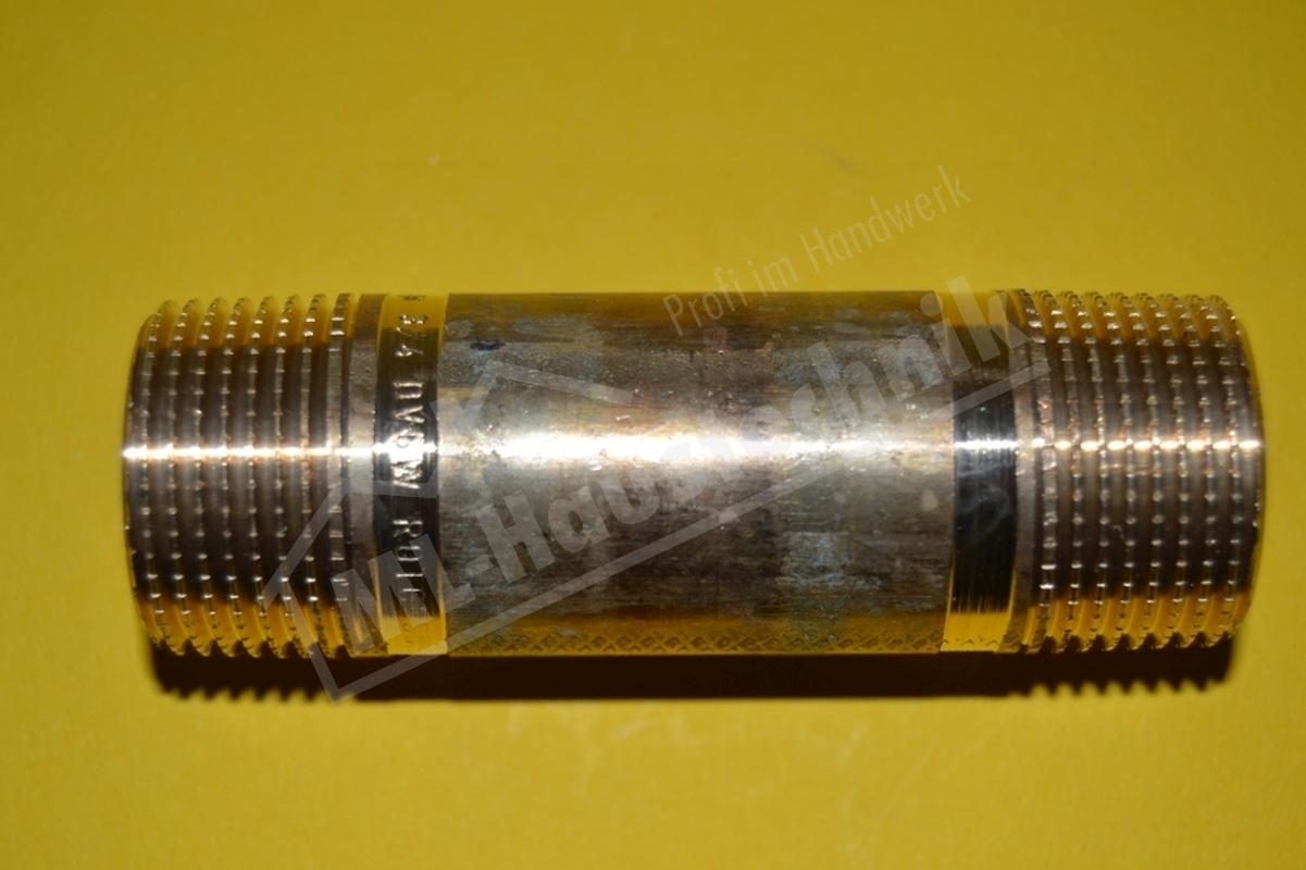 Rotguss Langnippel Nr 3530 1/2-3/4-1-1 1/4-1 1/2-2 Zoll Rohr Nippel div. Längen