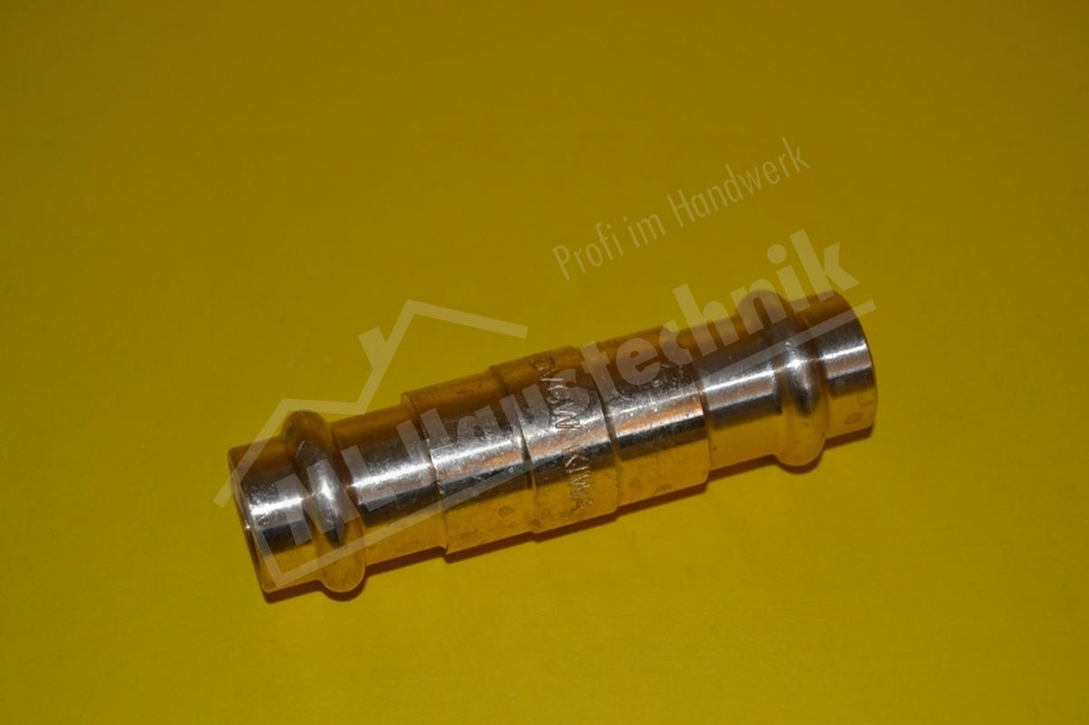 Press Fitting P4275 Rotguss Schiebemuffe Muffe 12-15-18-22-28-35-42-54 Kupfer