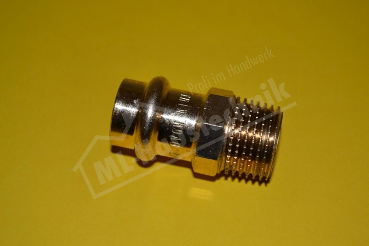 Press Fitting P4243G Rotguss Übergang Stück AG 12-15-18-22-28-35-42-54 mm Kupfer