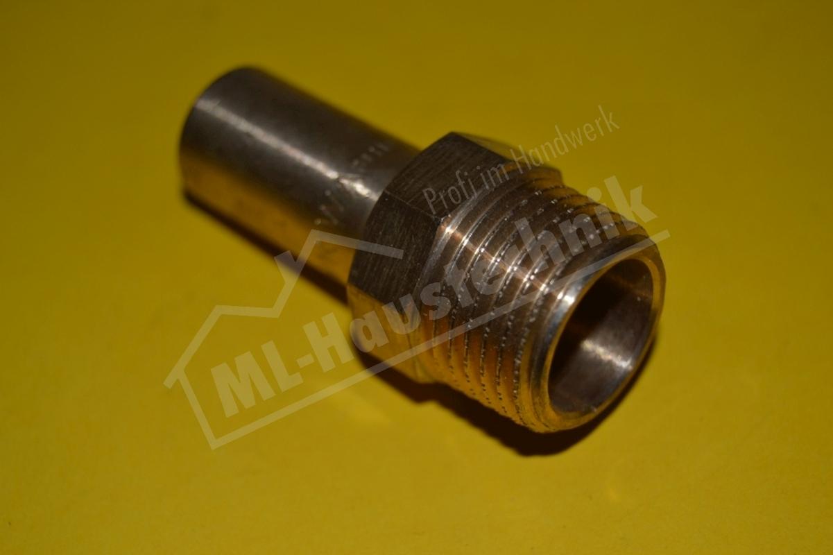 Press Fitting P4280G Rotguss Einsteckstück AG 15-18-22-28-35 mm Kupfer x Zoll