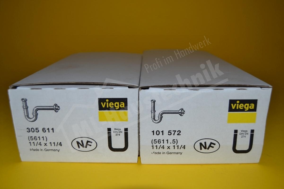 """Viega Röhrensifon Waschtisch Sifon, Siphon 1 1/4"""" x 32 mm Geruchsverschluss plus"""