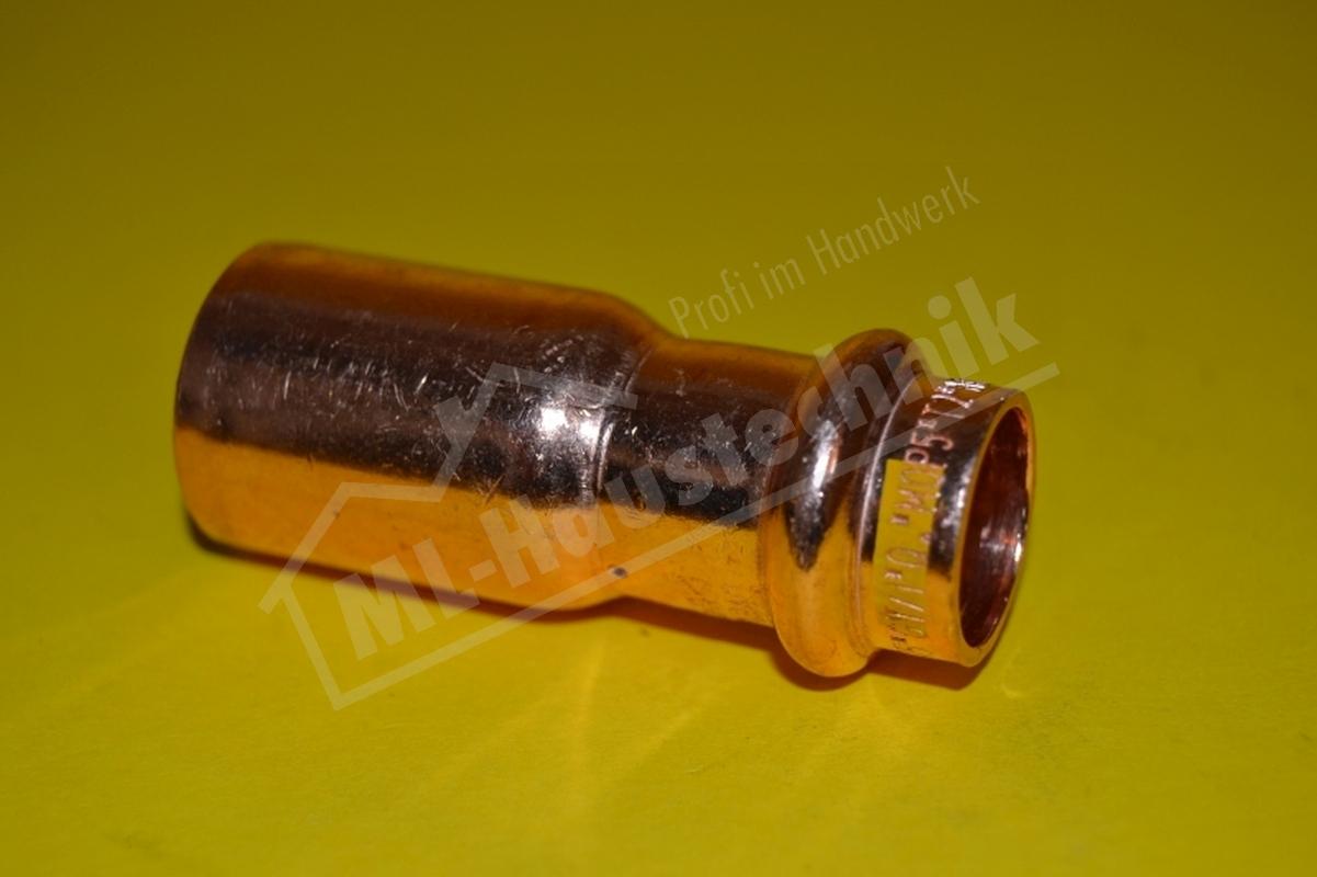 Gas Press Fitting PG5243 Kupfer Reduzierung 15-18-22-28-35-42-54 Reduzierstück V
