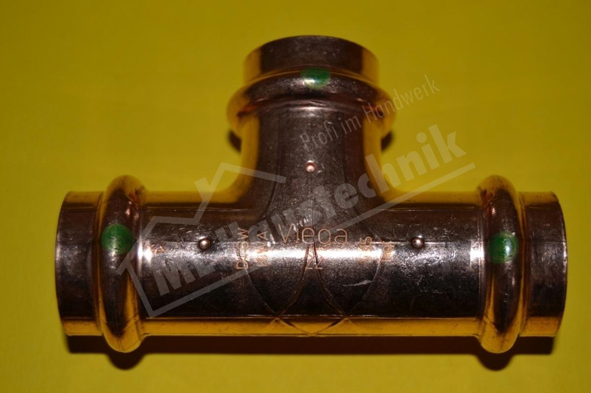 Viega Profi-Press Fitting  T-Stück 12-15-18-22-28-35-42-54 mm Kupfer T Stück x V