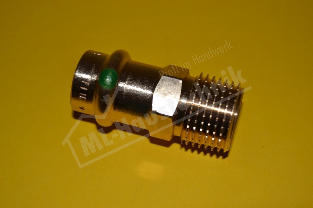 Viega Profi-Press Fitting Rotguss Übergangsstück AG 12-15-18-22-28-35-42-54 mm V