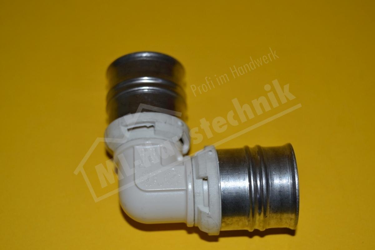Kunststoff Press Winkel 16-20-26-32 PPSU DVGW zugelassen Bogen Hülse Edelstahl