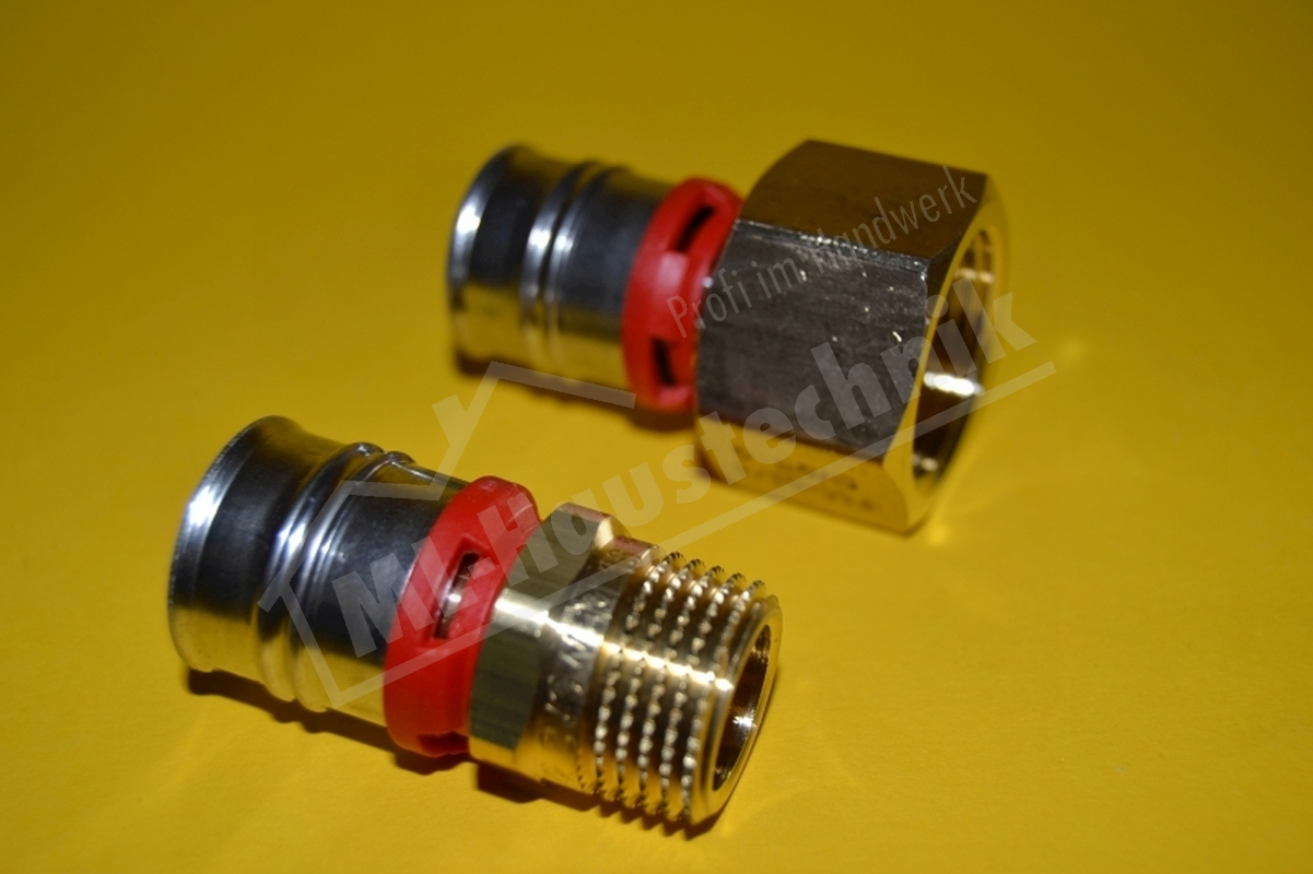 "Kunststoff Press Gewinde Übergangsstück 16-20-26-32 1/2""-3/4""-1"" Metall"