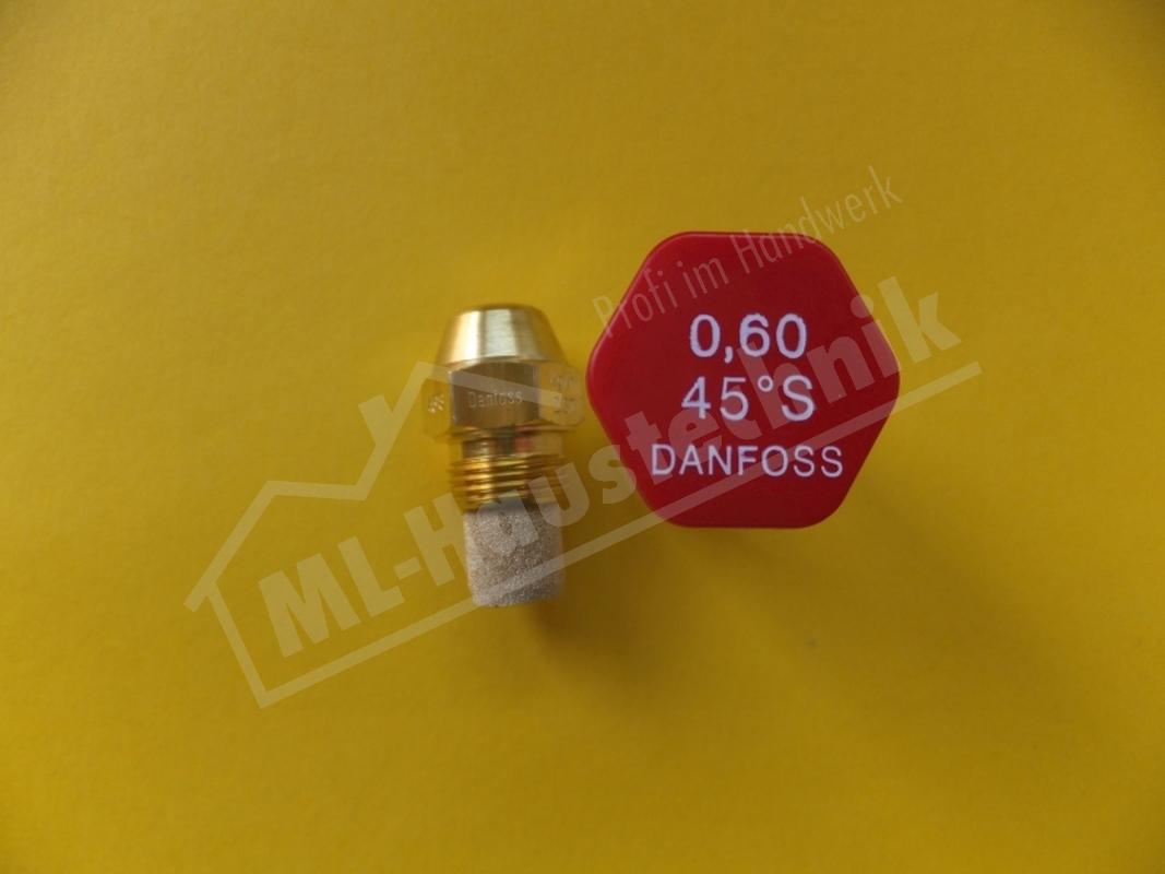 Danfoss Öldüse aus messing mit Filtereinsatz Vollkegel S