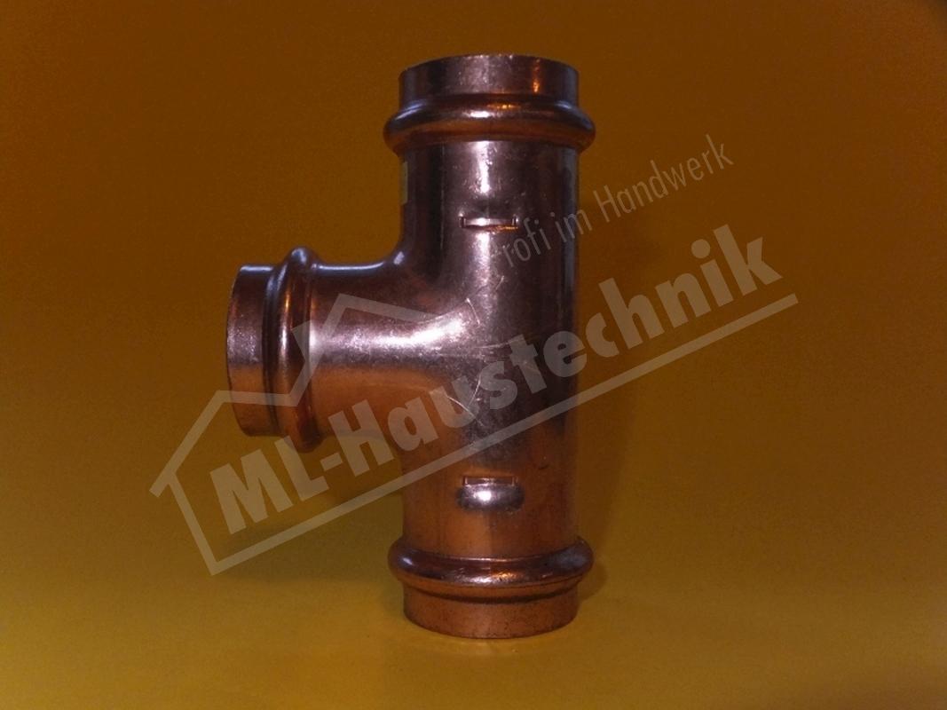 Viega Gas Profi-Press T-Stück Kupfer Kupfer-rohr 15-18-22-28-35-42-54 mm