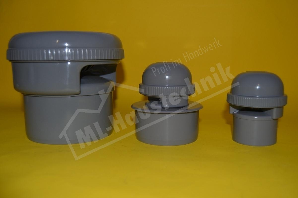Rohrbelüfter Abwasser NW 50, 75, 110 Belüfter HT für Kanal, Rohr DN 50, 70, 100