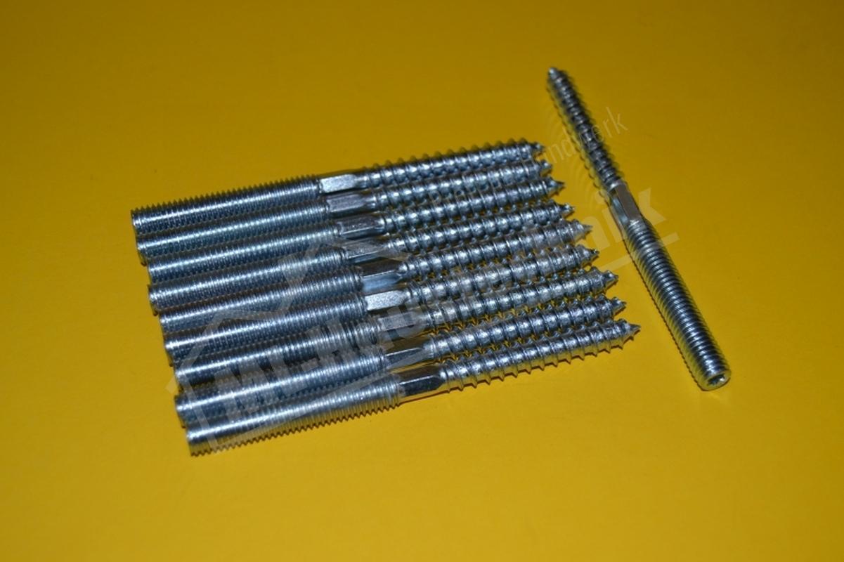 10 Stück Stockschrauben M8 in verschiedenen Größen 60mm , 80mm , 100mm , 120mm