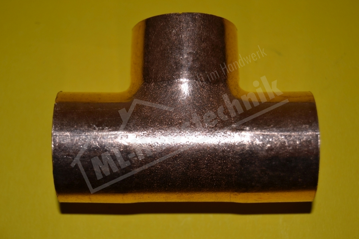 Kupfer Löt Fitting T-Stück Nr. 5130 10-12-15-18-22-28-35-42 mm T Stück