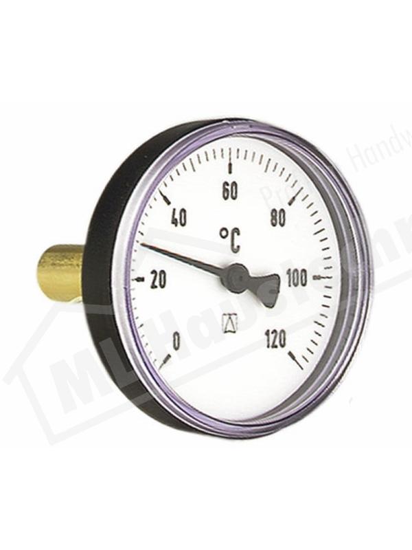 """Bimetall-Thermometer 1/2"""" x 100 mm Gehäuse 100 mm 0-120 Grad mit Tauchhülse"""