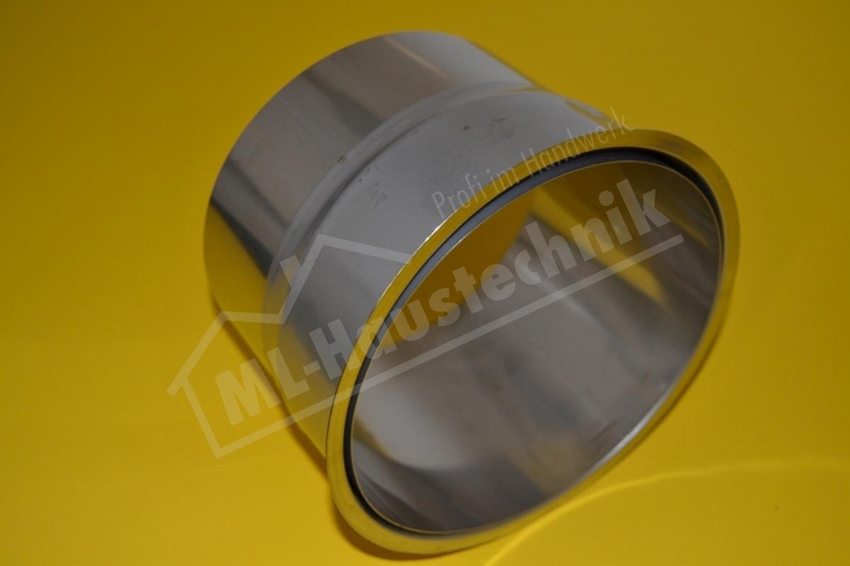 Abgasrohr Wandfutter Edelstahl 110mm doppelt