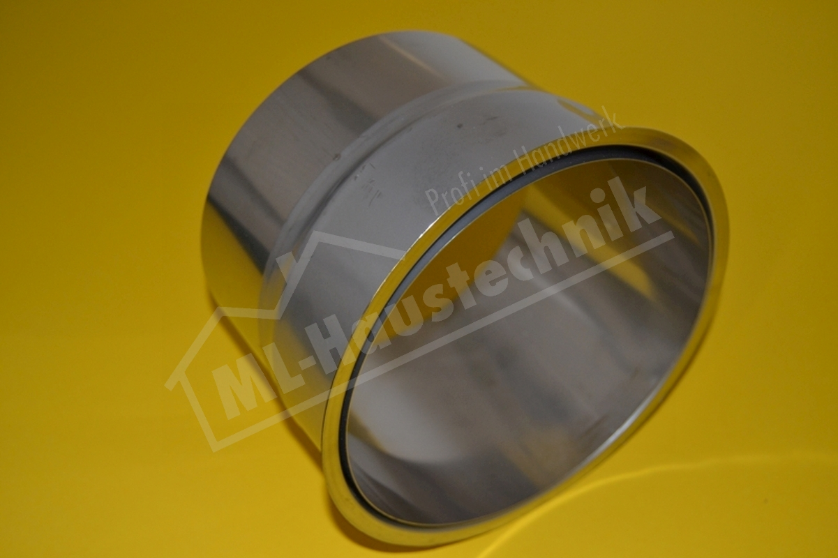 Abgasrohr Wandfutter Edelstahl 130mm doppelt