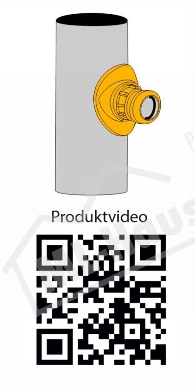 AIRFIT Schraub-Abzweig HT DN 90 x 50 mm  Zur Anbindung an HT//PEPP//SML