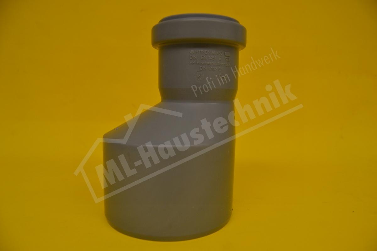 Uebergangsrohr HT -  DN 100 x 70 Reduzierung Redu