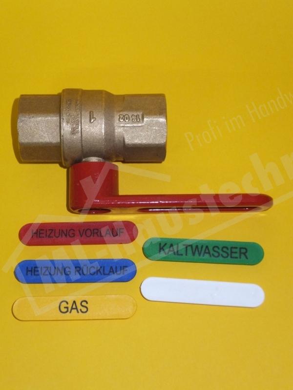 """Multilogo DVGW Kugelhahn DN 20 Trinkasser Gas Heizung Hebelgriff 3/4"""" Zoll"""
