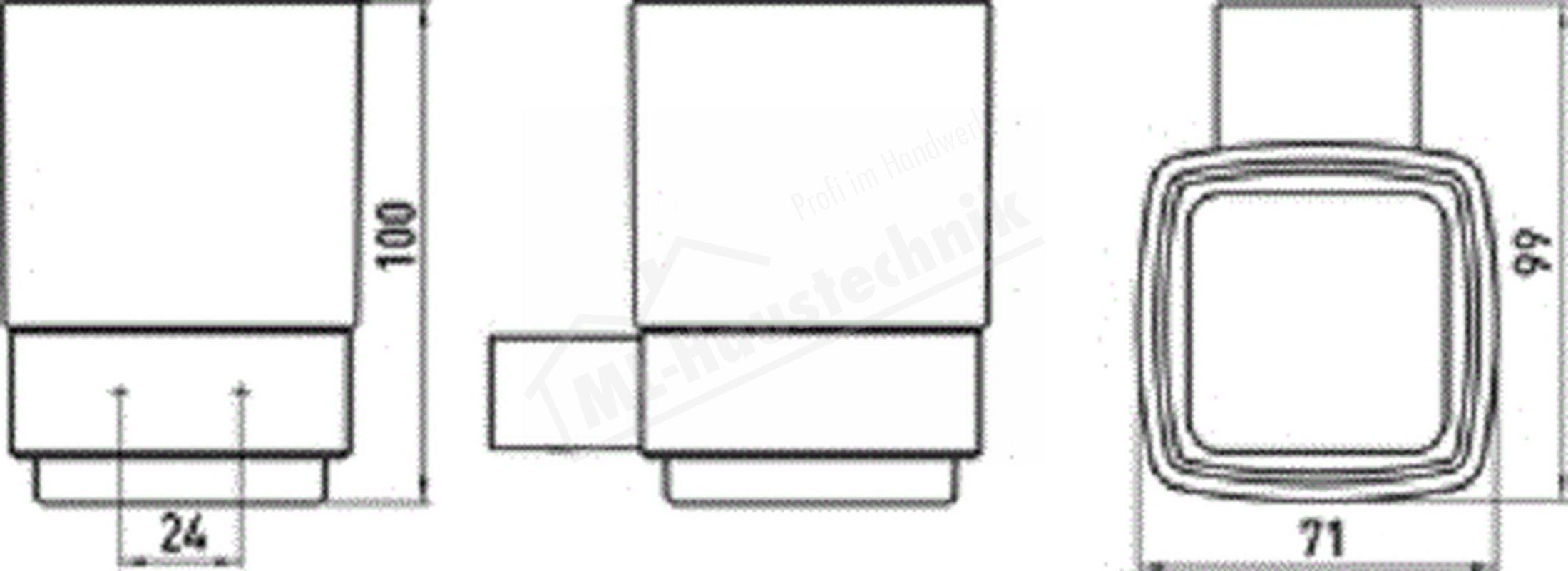 Emco Loft Glashalter mit Kristallglas Satiniert verchromt 052000100