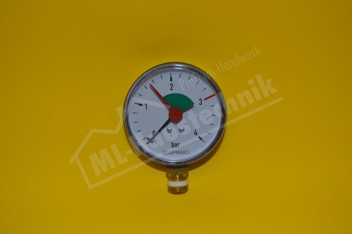 "Manometer 1/4"" Zoll unten 0-2.5 / 4 bar Gehäuse 63 mm"