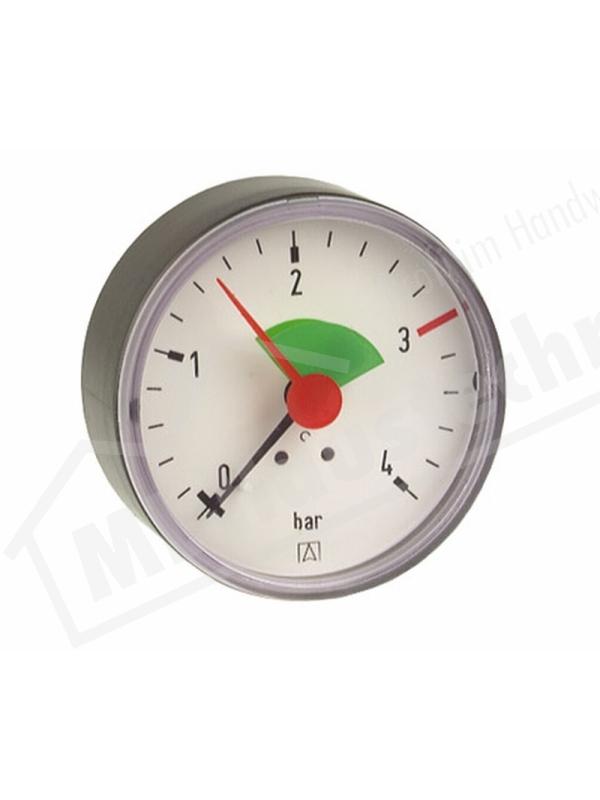 "Manometer 1/4"" Zoll hinten 0-2.5 / 4 bar Gehäuse 63 mm"