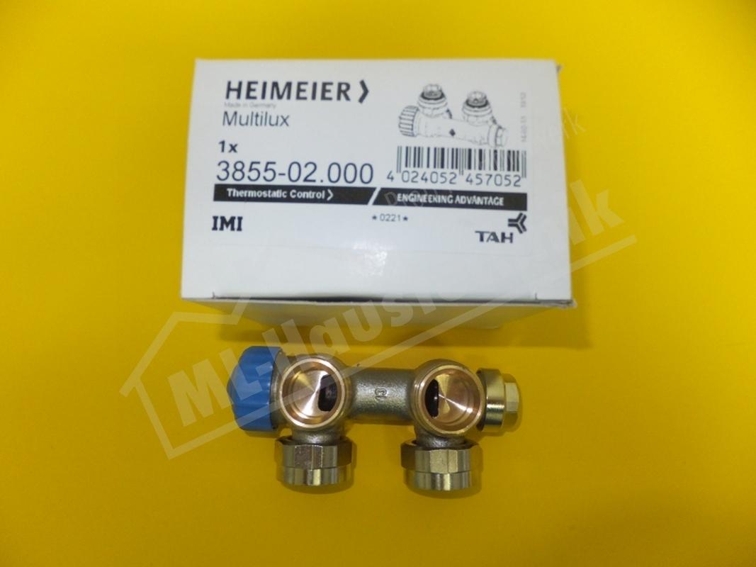 3855-02.000 Heimeier Multilux 1-Rohr-Thermostat- Ventilunterteil DN 20 Eckform I