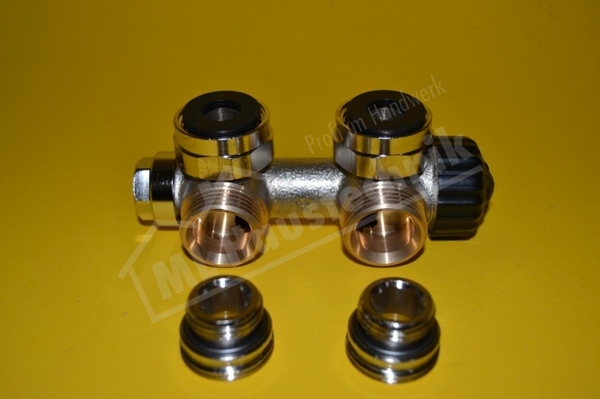 """3851-02.000 Heimeier Multilux 2-Rohr-Thermostat- Ventilunterteil DN 20 1/2"""" eck"""