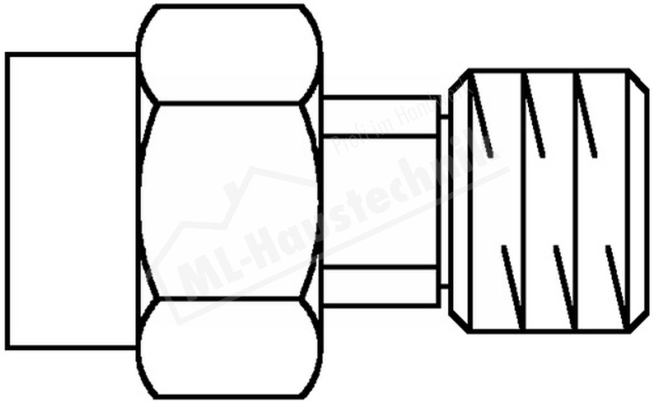 """1111904 Oventrop Übergangsstück 1/2"""" für Manometer"""