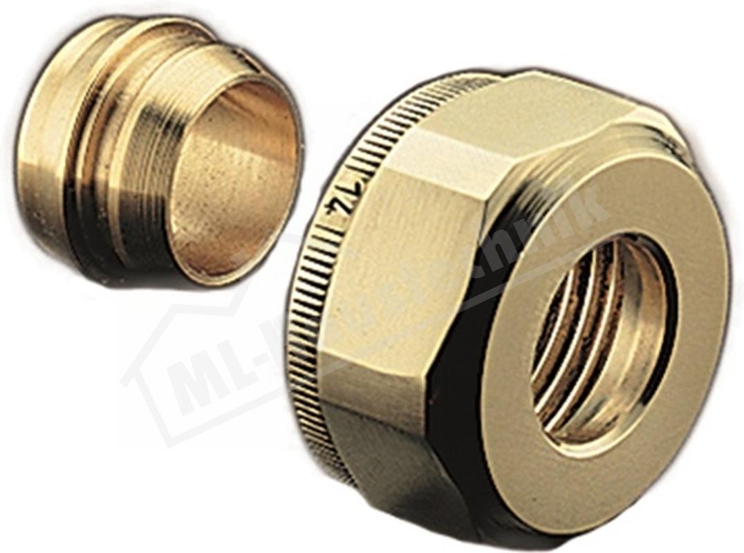 """1016863 Klemmringverschraubungs-Set Oventrop 15mm f.AG 3/4""""  Zoll"""
