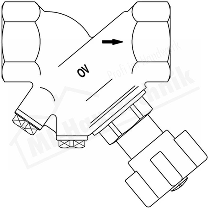 """1067512 Strang-absperrventil Oventrop 1 1/2"""" Rotguss Ventil"""