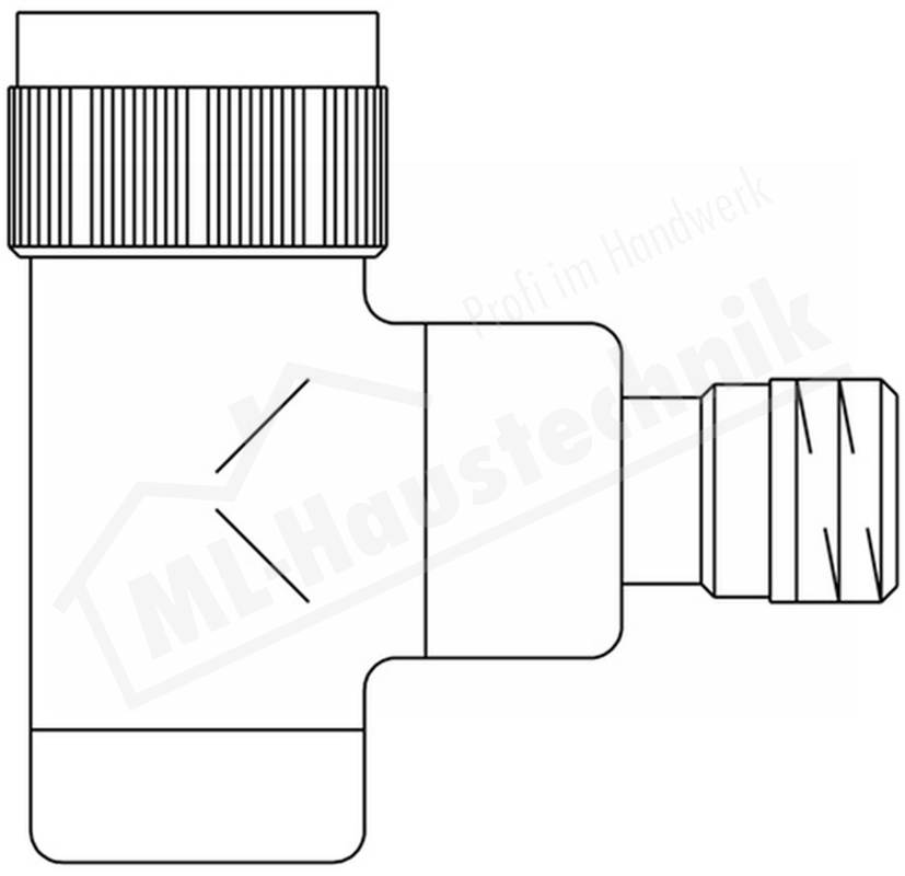 "1163052 Oventrop Ventilunterteil Baureihe E 1/2"" Eck verchromt M30 x 1.5"