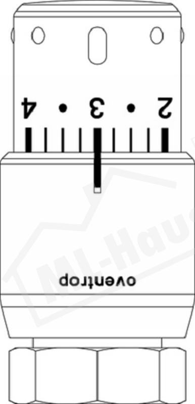 1012069 Oventrop Thermostat UNI-SH verchromt 7-28 Grad C M30 x 1.5mm m.Flüssig-F