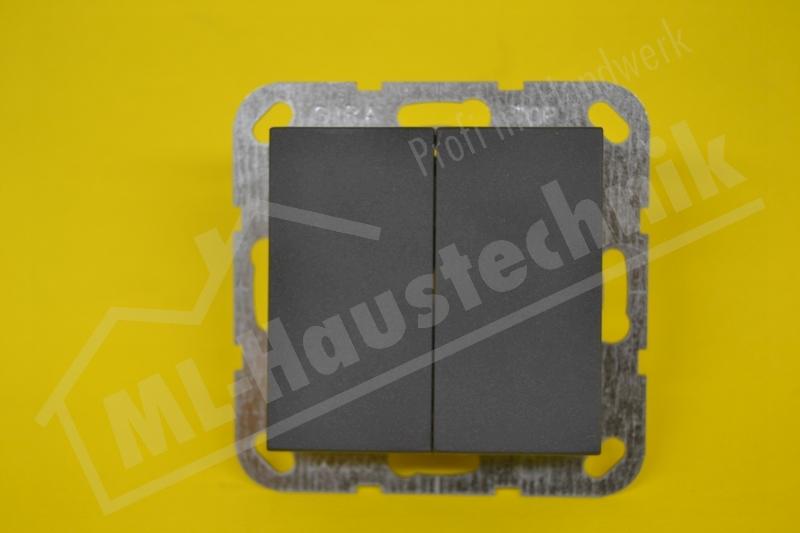 Gira 012528 Tastserienschalter anthrazit System 55 komplett mit Wippe