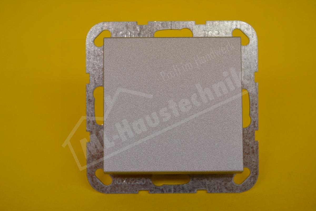 Gira 012626 Tast-Wechselschalter alu System 55 komplett mit Wippe