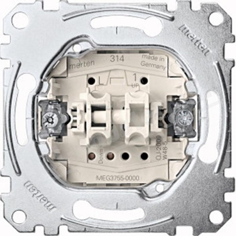 Merten MEG3755-0000 Rollladentaster- Einsatz 1polig 10A 250V AC