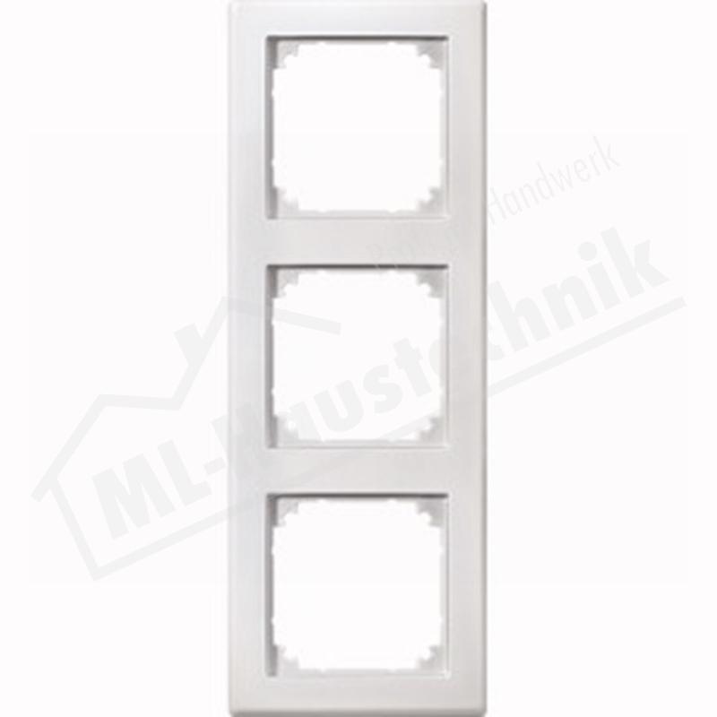 Merten 462319 Rahmen 3-fach polarweiss System M-Smart Duroplast kratzfest