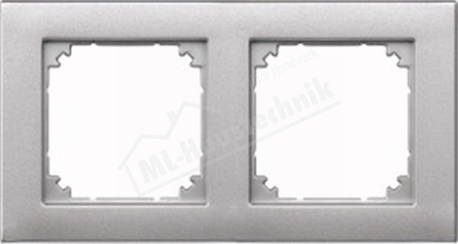 Merten 486260 Rahmen 2-fach aluminium System M-Plan