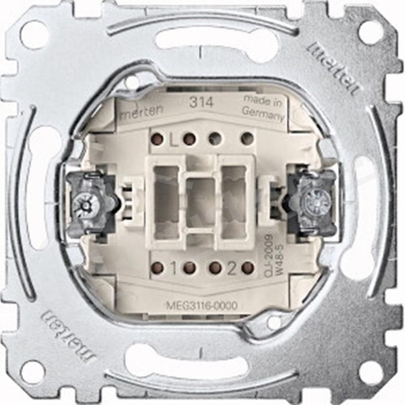 Merten MEG3116-0000 Aus- Wechsel-schalter Einsatz 1-polig 10AX 250V AC