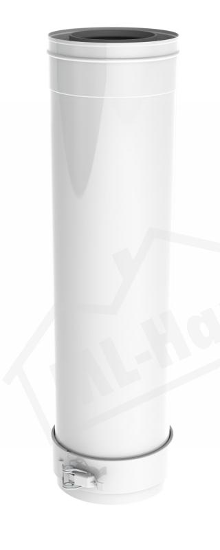 Remeha Abgasrohr PPS DN 80/125 kürzbar 500mm M85068W