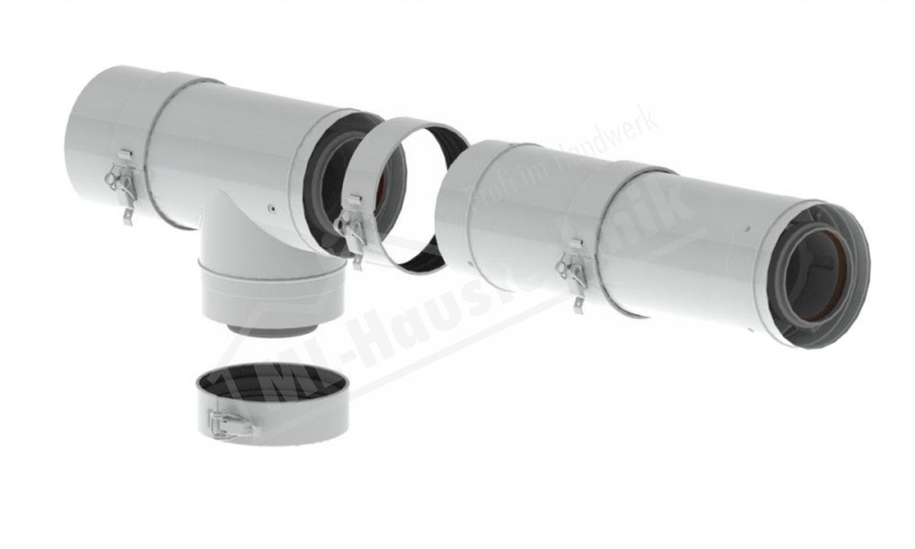 M82106 Remeha PPS-Grundbausatz RUA2/1 DN 80/125 Aussenwand über Dach