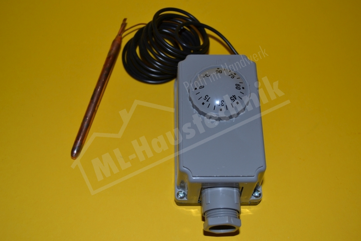 Gehäuse-thermostat - Kapillar-Thermostat Kapillarlänge 2000mm / 2 m Kessel