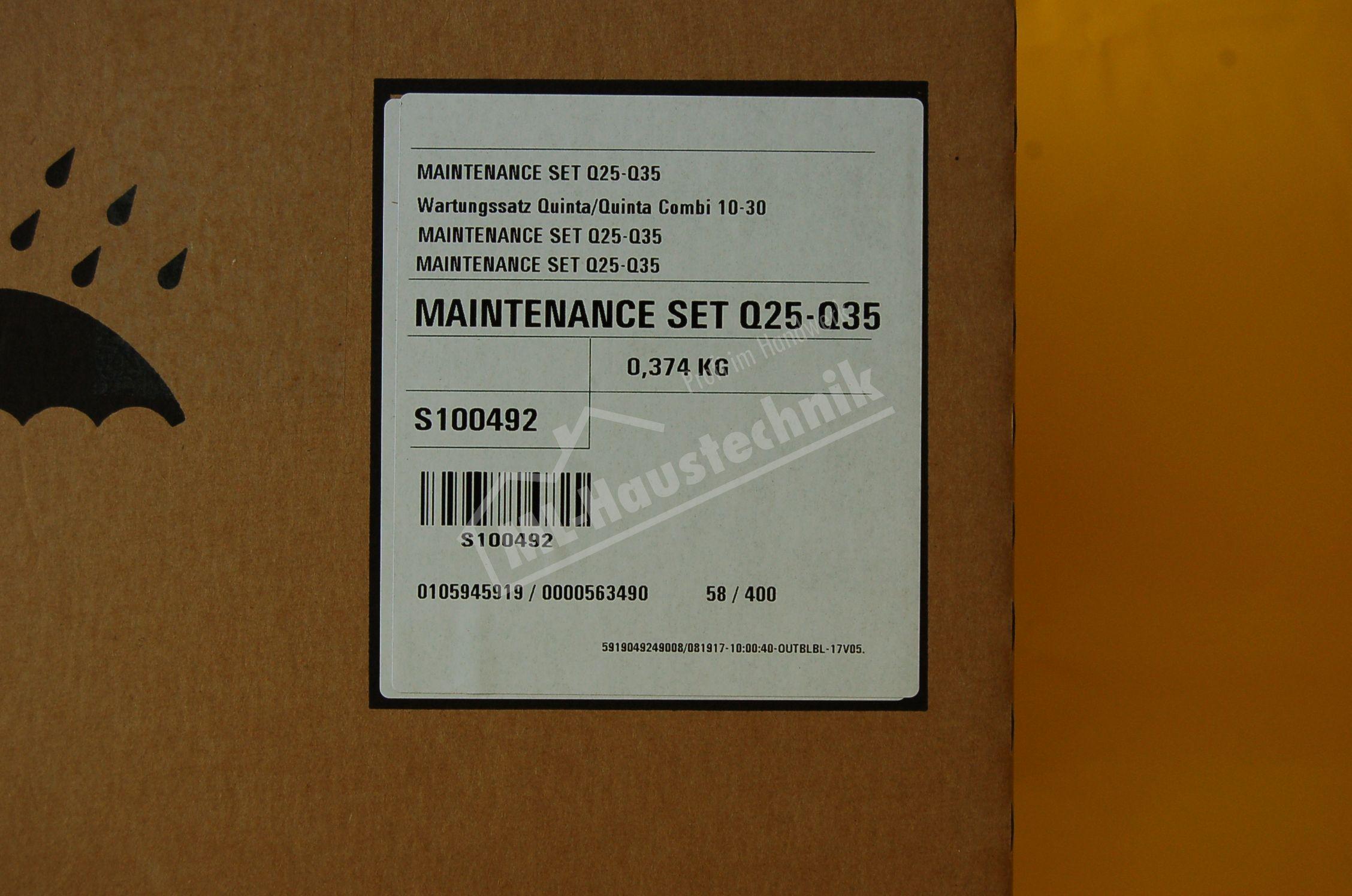 S100492 Remeha Wartungssatz Quinta 10-30