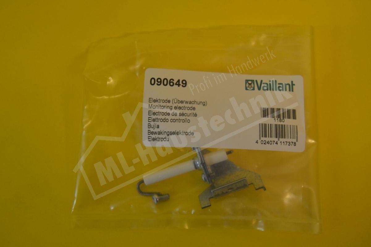 Vaillant Überwachungselektrode für VC / VCW rechts 090649 Überwachung Elektrode