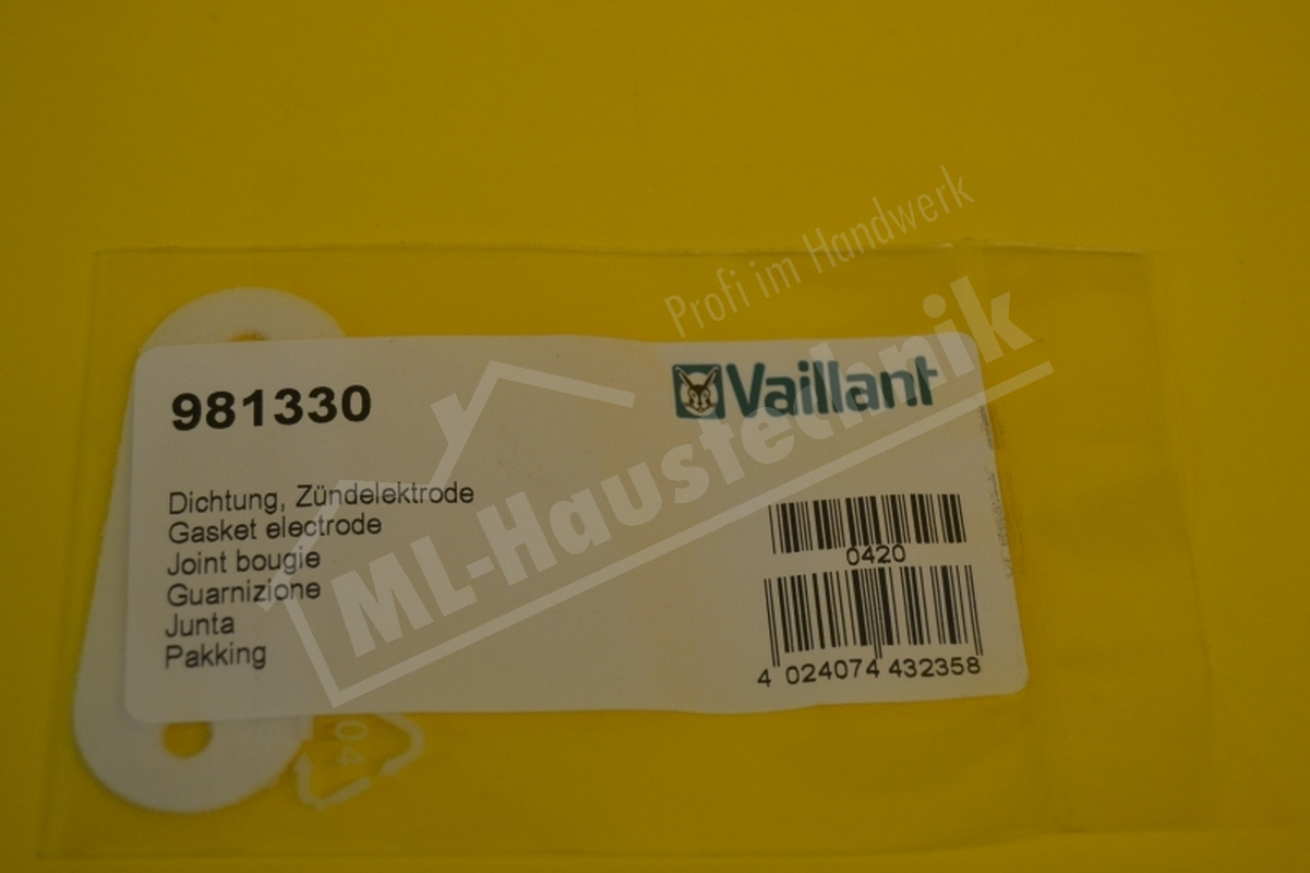 981330 Vaillant Dichtung für Brennwertgeräte